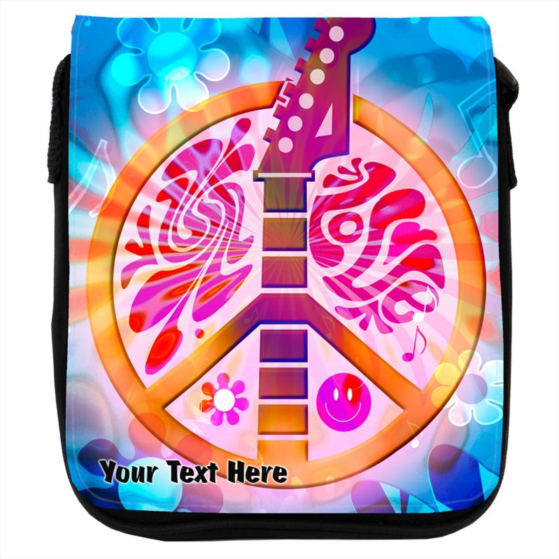 Peace Signs And Smiley Faces Backgrounds Peace Sign With Guitar Smiley Face Denim Shoulder